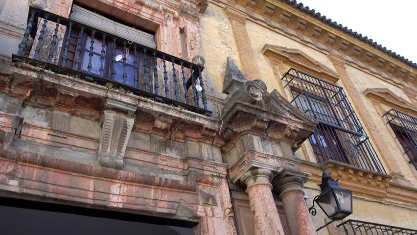 Buildings on Plaza Vizconde de Miranda in Cordoba, Andalusia, Spain