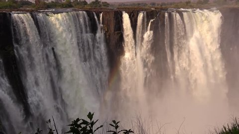 Amazing view of the Main Fall from the opposite side - Victoria Falls HD1080