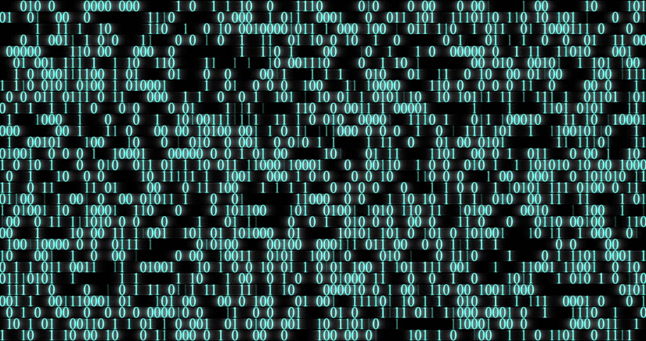Binary code wall random numbers glowing on a black background  | Shutterstock HD Video #25666793