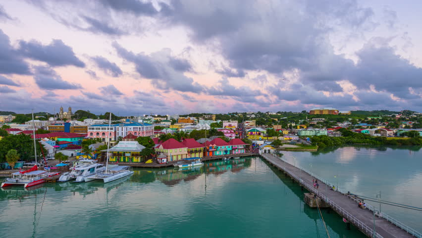 St. John, Antigua and Barbuda at the port.