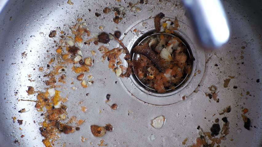 Dirty Clogged Washbasin Sink Kitchen Stock Footage Video
