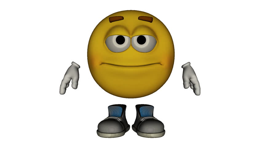 Animated 3D Emoticon Character Expressing Anger On A ...