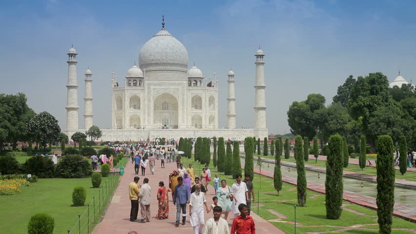 a center view of the Taj Mahal, India