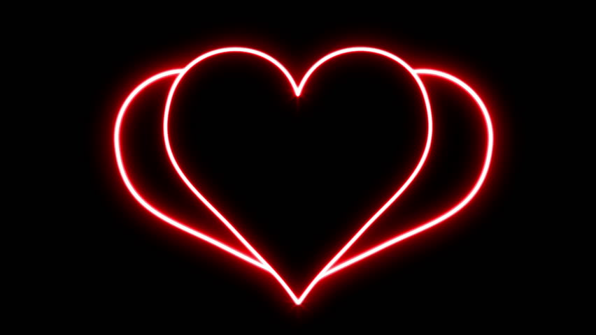 Heart Art Animation On A Black Background. 1080p. Stock ...