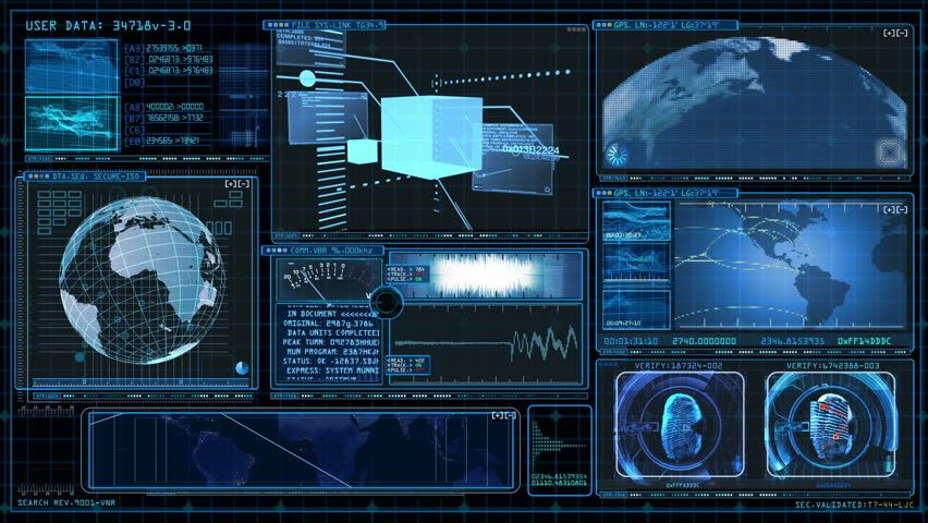 Technology Interface Computer Data Screen GUI | Shutterstock HD Video #2572178