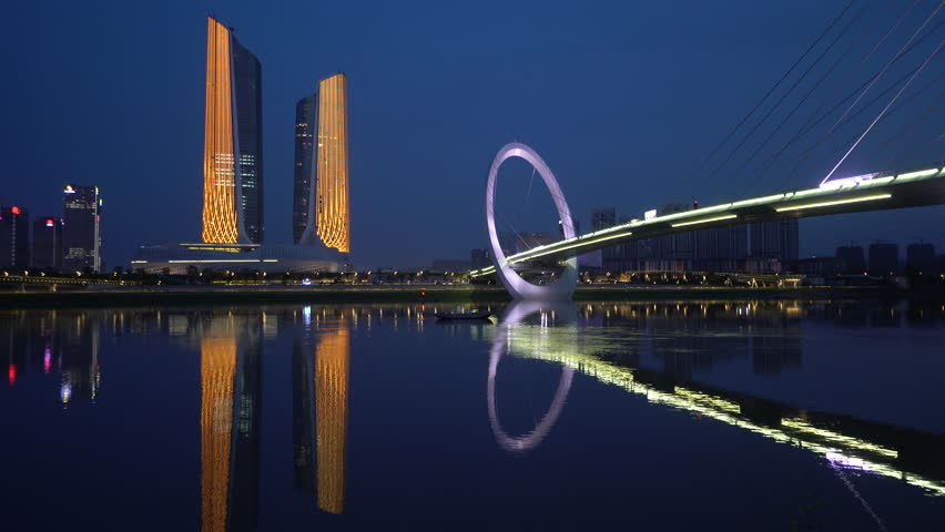'Nanjing Eye' Pedestrian Bridge in Nanjing Youth Olympic Park