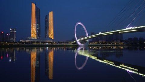 'Nanjing Eye' Pedestrian Bridge in Nanjing Youth Olympic Park