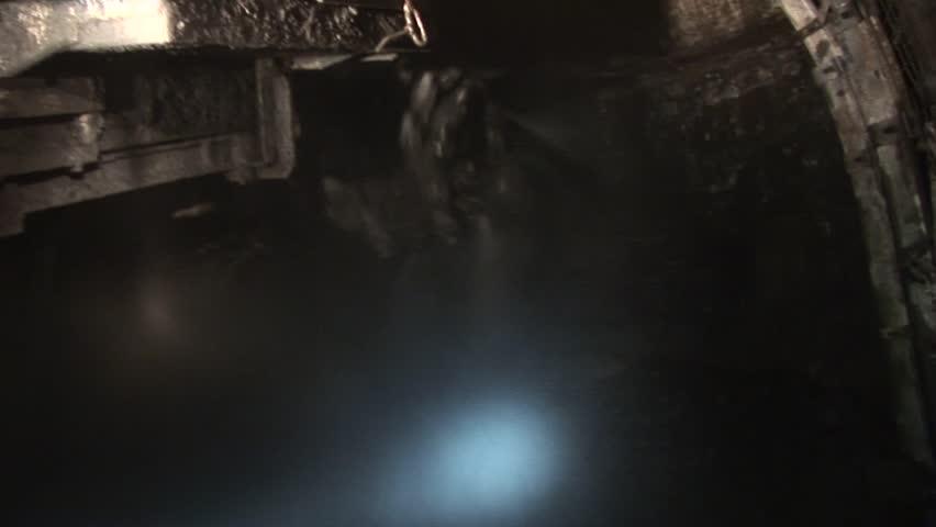 Coal mine, coal mining, in the mine, carbon, coal mine in Poland 1100 meters underground    Shutterstock HD Video #25731623