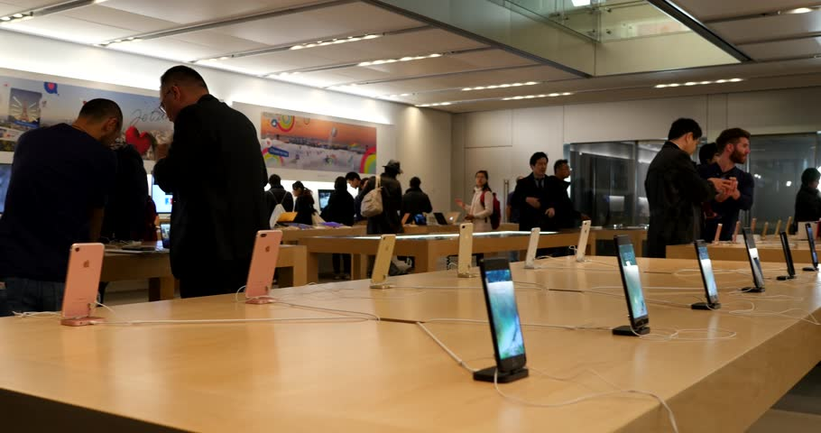 tokyo japan circa march 2017 customers inside apple store apple inc