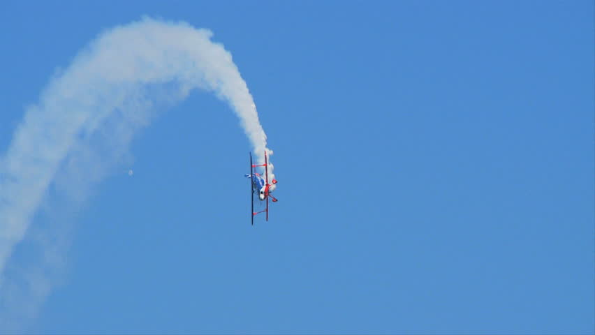 QUONSET, RHODE ISLAND - CIRCA JUNE 2012: Air Force Reserve Biplane stunt plane - 4