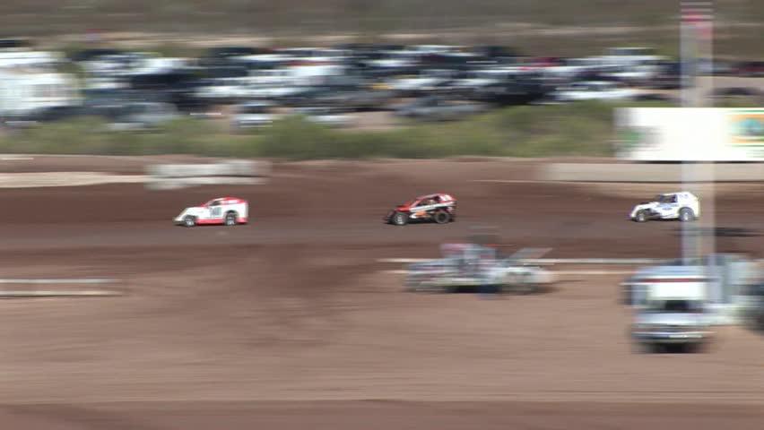 Fast Silver Car Racing Across The Bonneville Salt Flats In
