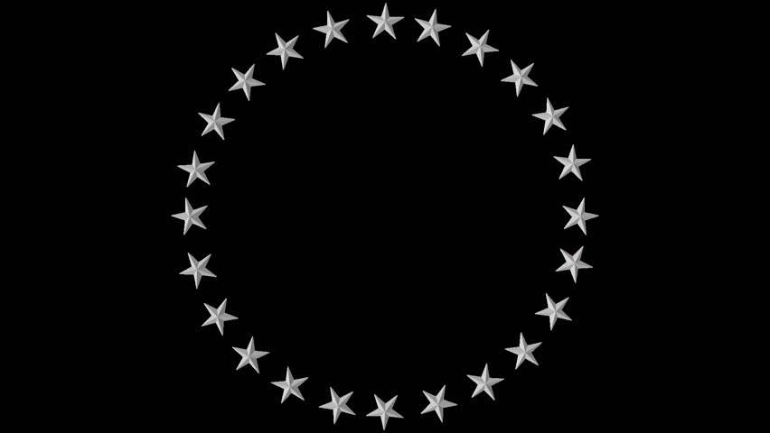 High quality render of white stars in a circle. Perfect for a logo treatment or political blogs or commercials. Includes embedded alpha channel so that any color background can be used.
