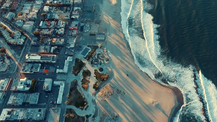Above the ocean (Venice beach) | Shutterstock HD Video #25801793