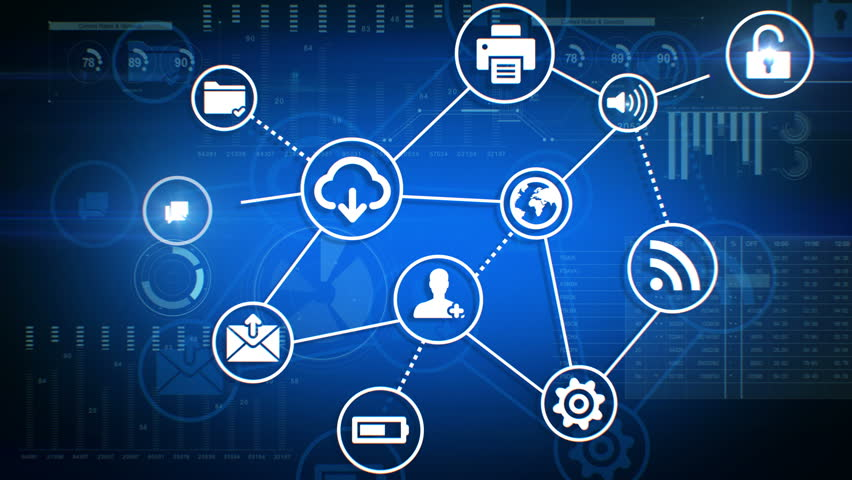 Beautiful Digital Interface with Icons and Links Growing over the Business Graphs. 4k 3840x2160 UHD.   Shutterstock HD Video #25820993