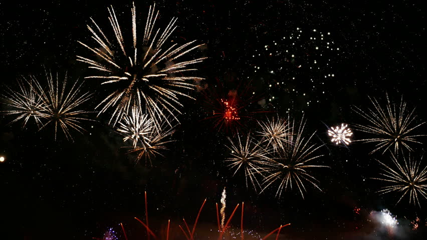High quality video of new year fireworks in 4K | Shutterstock HD Video #25830248