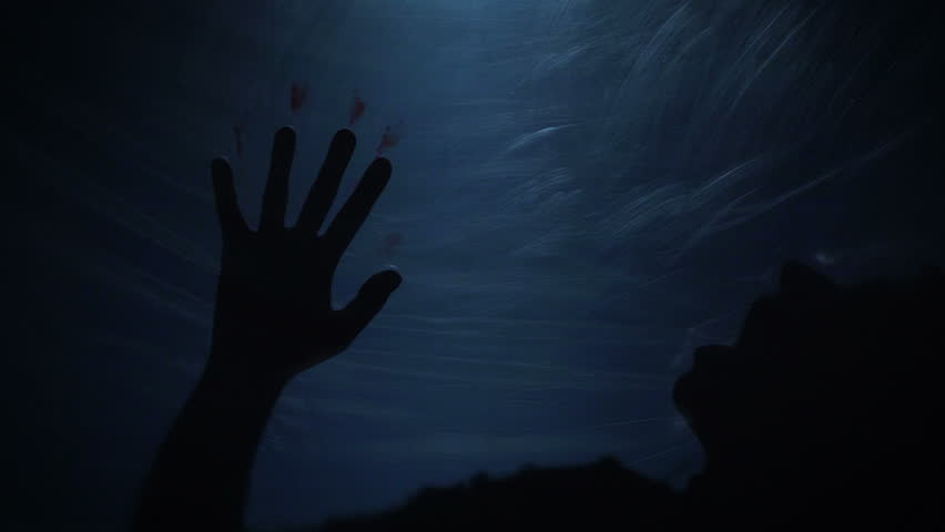 Victim silhouette behind plastic, terrible murder, kidnapping, slow-motion | Shutterstock HD Video #25845725