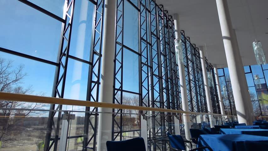 Modern Architecture Videos johvi, estonia - april 8: modern architecture detail - glass
