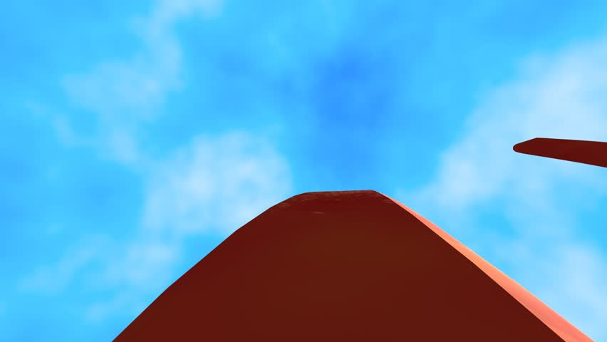rollercoaster point of view in a simple 3d animation,