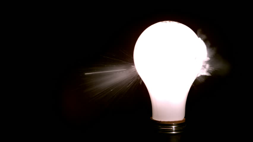 Light bulb burst Slow Motion at 1500fps