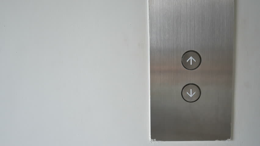 finger press down of elevator button - 4K stock footage clip & Persons Hand Pushing Elevator Door Buttons Open Closeup. Stock ... Pezcame.Com