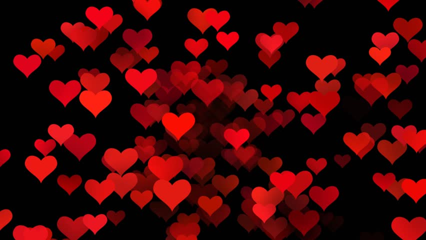 Red Love Hearts Animated Background Stock Footage Video ...