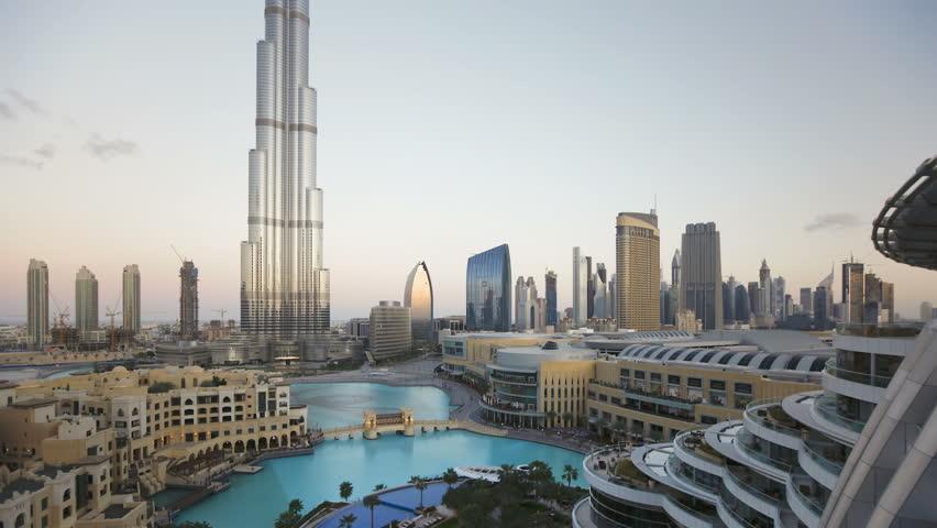 DUBAI, UNITED ARAB EMIRATES - CIRCA MAY 2011: Modern Design Structure, the Burj Khalifa was completed in 2010.
