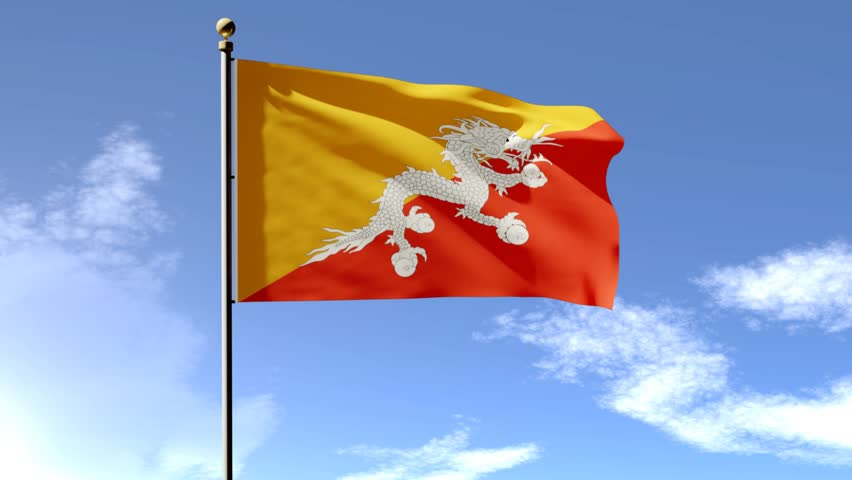 Bhutan Flag 3d Animation with Stock Footage Video (100% Royalty-free)  25952183   Shutterstock