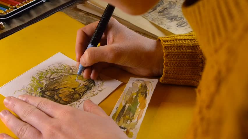 9908fe17a Female Artist Painter Woman Paiting Stock Footage Video (100% Royalty-free)  25981313 | Shutterstock