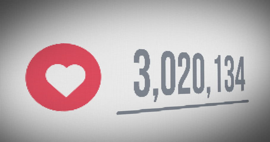 Close up Shot of Likes Quickly Increasing to 10 Million Views, Mouse Cursor Clicking  Heart(Love) Icons. | Shutterstock HD Video #26014520