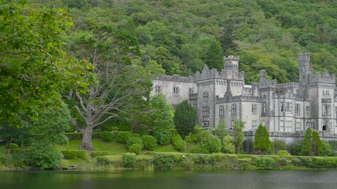 The monastery Kylemore Abbey in Ireland it is an ancient monastery built many years ago