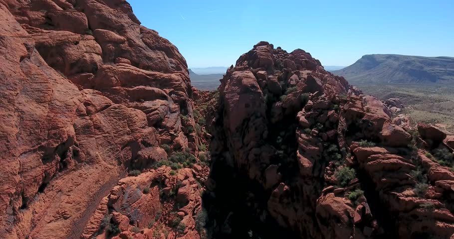 Flying up and out and over Red Rock Canyon, Nevada   Shutterstock HD Video #26070593