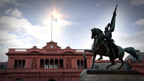 The Casa Rosada in Buenos Aires (Argentina).