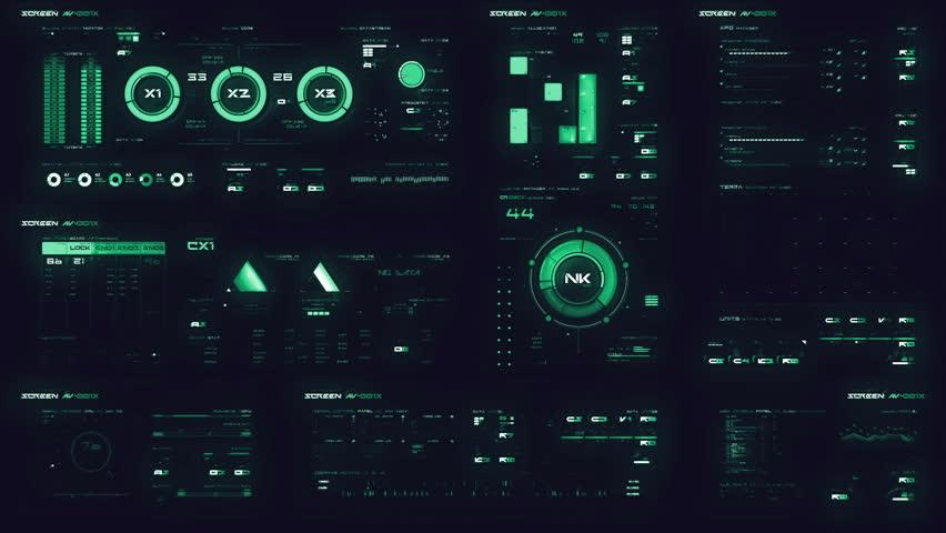 Futuristic digital interface screen | Shutterstock HD Video #26128433