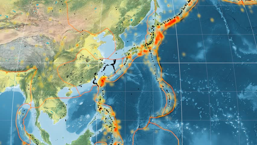 Yangtze Tectonic Plate Featured Animated Against The Global - Global topographic map