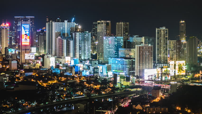 Manila philippines april 18 2017 time lapse view of metro manila philippines april 18 2017 time lapse view of metro manila skyline at night in philippines dolly shot stock footage video 26142053 sciox Image collections