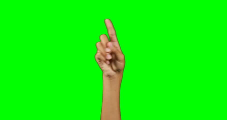 Hand pretending to use an invisible screen against chroma key background | Shutterstock HD Video #26261327