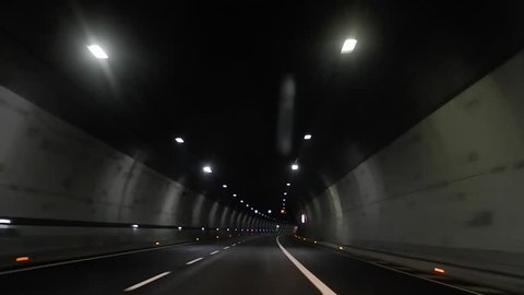 Driving under the Variante di Valico tunnel, Firenze Bologna