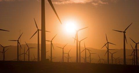 Wind Power. Large wind farm in California.
