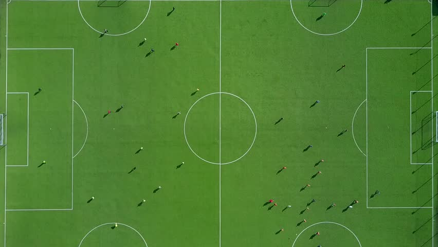 Aerial View From Drone Camera to Football Stadium #26340443