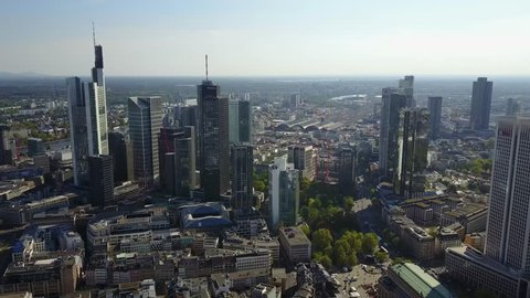 Frankfurt Aerial View Banks West and East