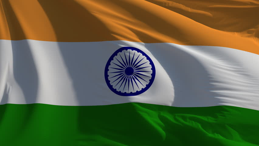 Flag of India: seamless loop animation (full screen)
