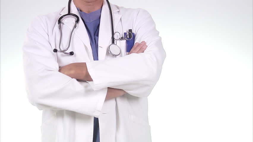 Close Up Of Nurse Or Doctor With White Smock And ...Doctor Stethoscope Images Hd