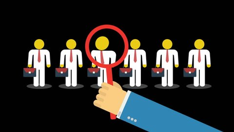 Employer of choice, candidate selection, employees group management business recruitment concept