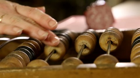 Ancient wooden abacus