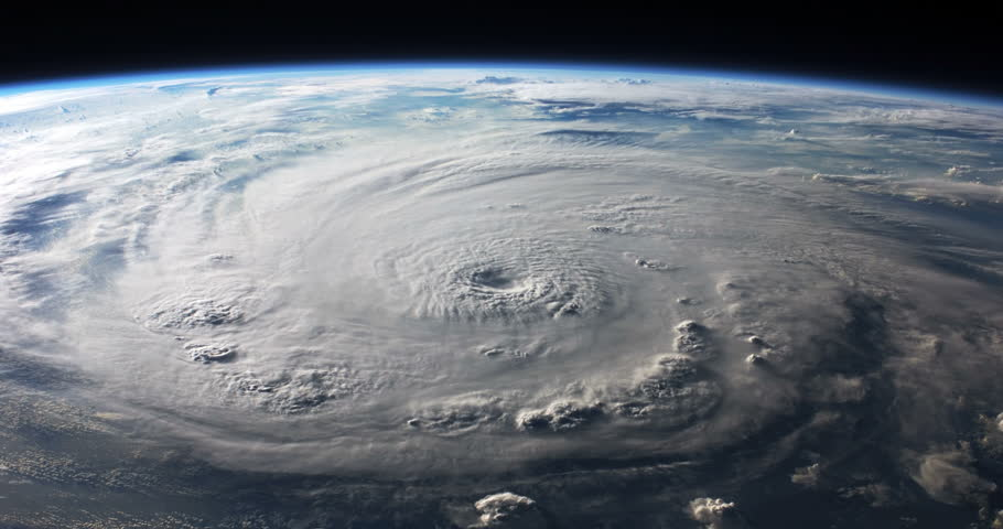 Hurricane Felix View From Space to Earth Animation, 4K some elements furnished by NASA images