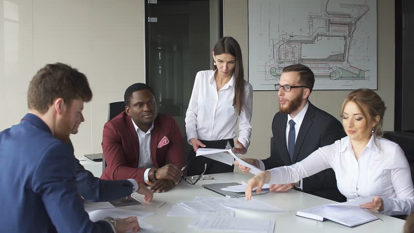 Creative business team meeting in modern start up office.Slow Motion. | Shutterstock HD Video #26516912