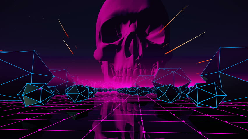 VJ Abstract Loop With Skull For Your Event Concert Presentation Music Videos