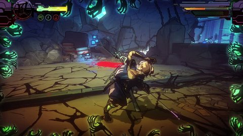 PHUKET. THAILAND - CIRCA APR 2016: Bloody gameplay of PC game - Yaiba Ninja Gaiden Z