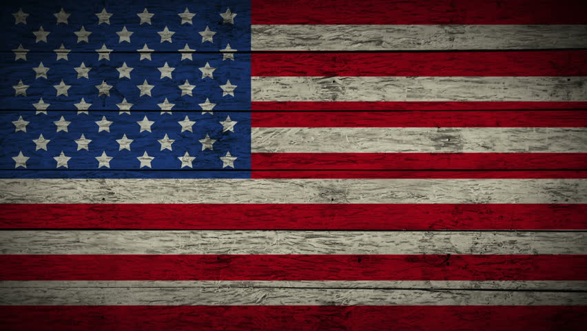 Painting Flag of United state of America on old wood boards. Animation of wooden grunge USA flag loop. Abstract flag background for your text or logo. drawing the American flag full hd and 4k.