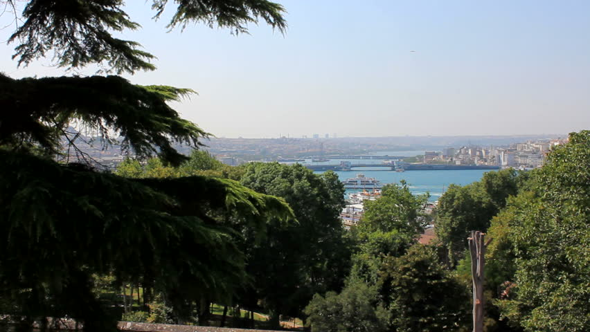 The Golden Horn is an inlet of the Bosphorus dividing the city of Istanbul and forming the natural harbor that has sheltered Greek, Roman, Byzantine, Ottoman and other ships for thousands of years